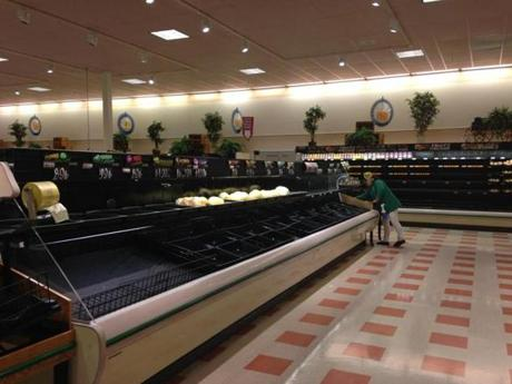 Produce has been scarce at the Market Basket in Chelsea, which is one of the biggest grocery stores in the state.